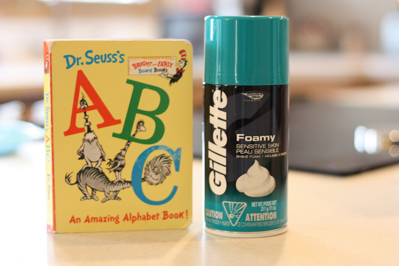 Dr Seuss Abc Book Writing Letters In Shaving Cream