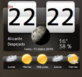 My Weather Indicator para Ubuntu - Widget 2