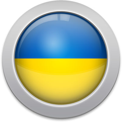 Ukrainian flag icon with a silver frame