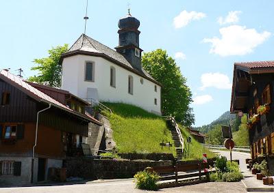 Kirche Gunzesried, Nagelfluhkette Allgäu