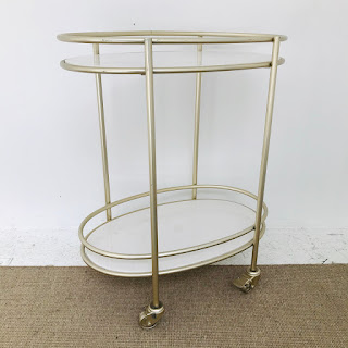 Marble Tiered Bar Cart