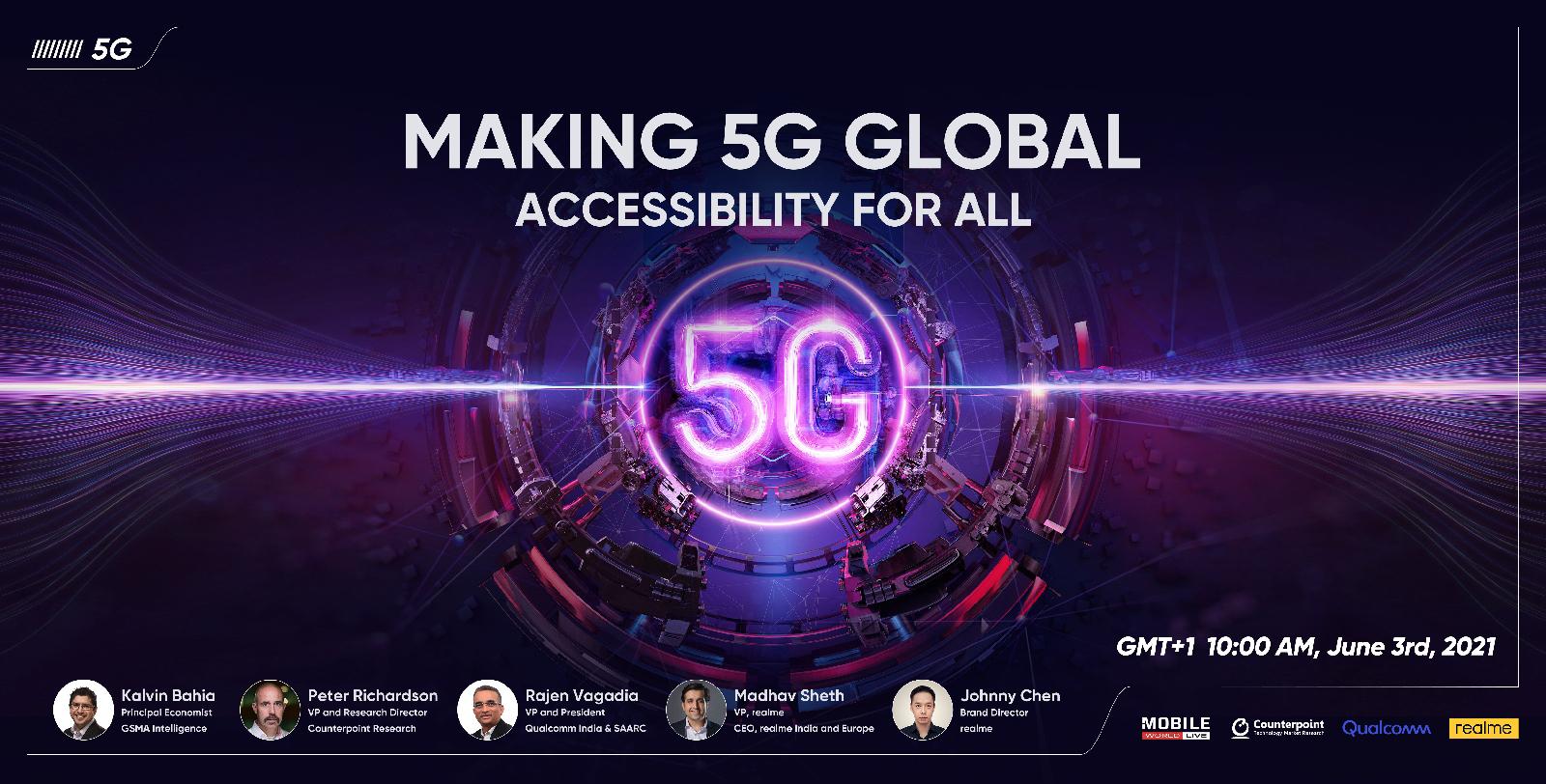 realme ผนึกกำลัง GSMA, Counterpoint และ Qualcomm ประกาศจัดงาน 5G Summit Global พร้อมขับเคลื่อนศักยภาพและคุณภาพแห่งเทคโนโลยีเพื่อคนรุ่นใหม่ ในวันที่ 3 มิถุนายนนี้