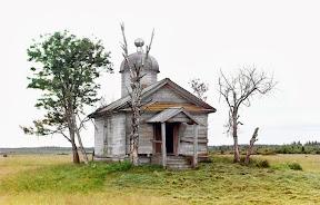Часовня на месте, где был основан город Белозерск, 1909 год.