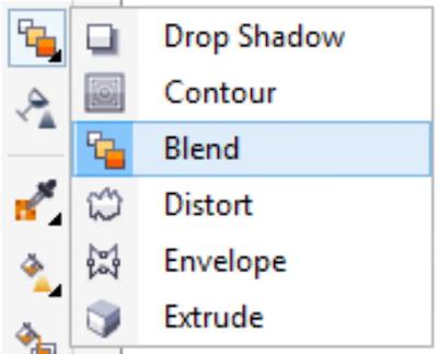 Cara menggunakan Blend Tools CorelDraw