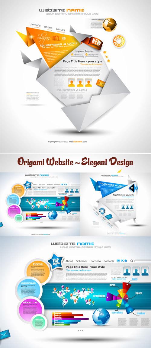 Stock:Origami Website - Elegant Design