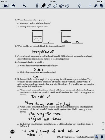 Curtis Layton Chemistry Saturated And Unsaturated Solutions Worksheet