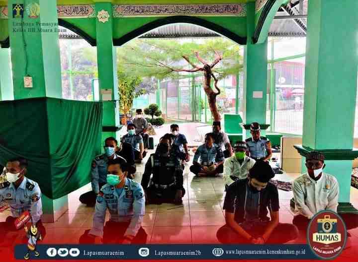 Petugas dan Warga Binaan Lapas Muara Enim Laksanakan Shalat Idul Adha 1442 H Berjamaah..