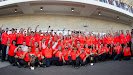 McLaren F1 team celebration after winning the US F1 GP