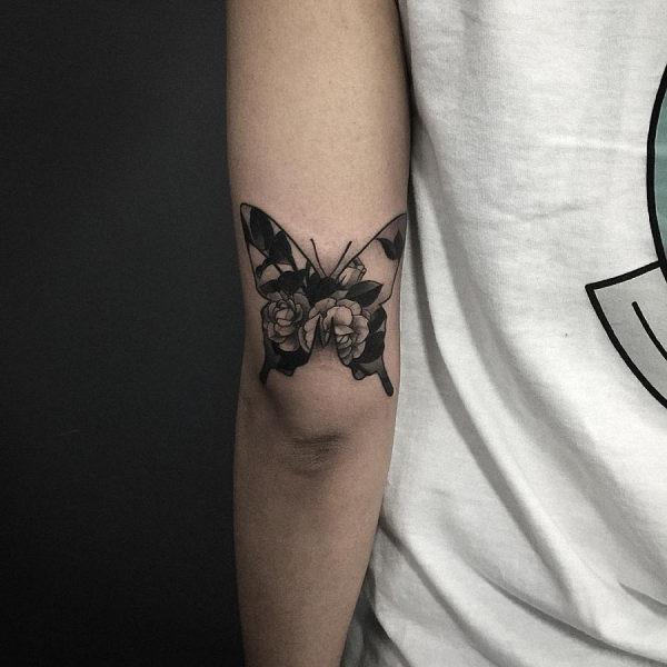 este_floral_tatuagem_de_borboleta
