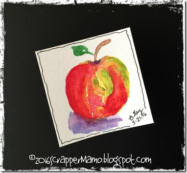 Watercolor Gala Apple