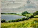 widok z Neu Sallenthin, olej, płótno, 18x24 cm
