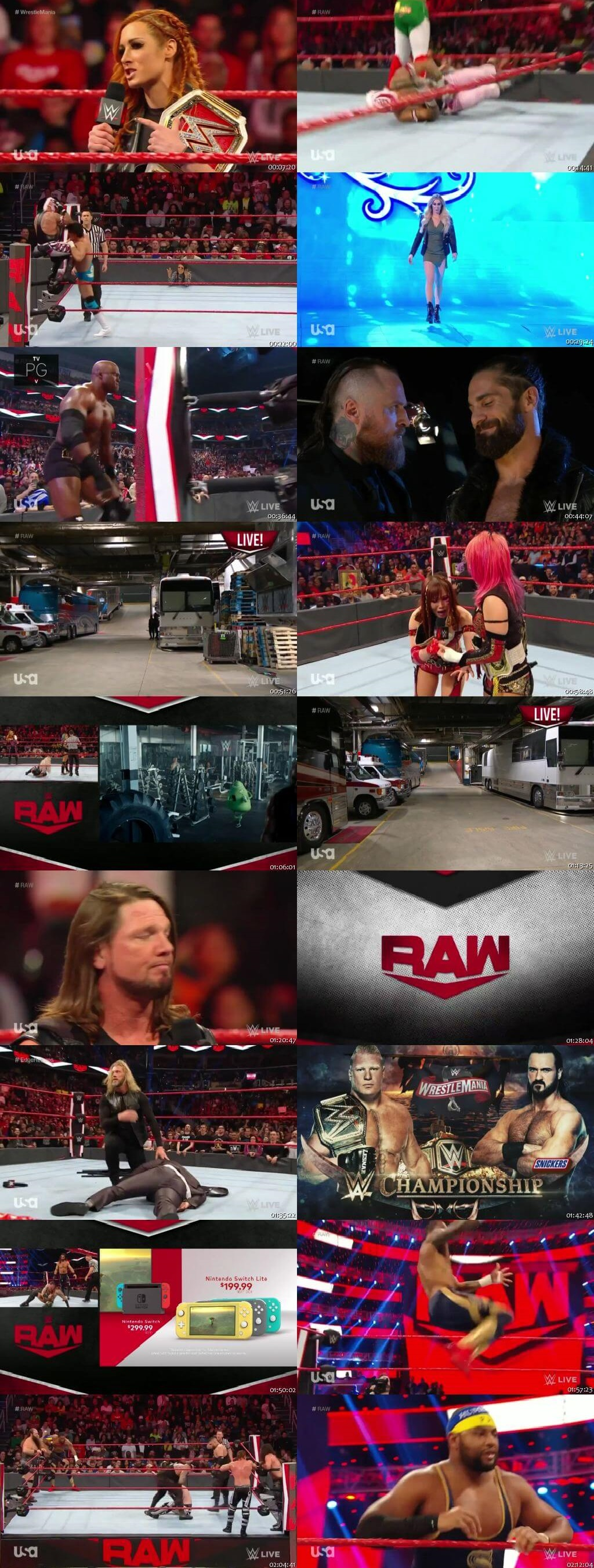 Screen Shot Of Wrestling TV Show WWE Monday Night Raw 9th March Watch Online Free Download