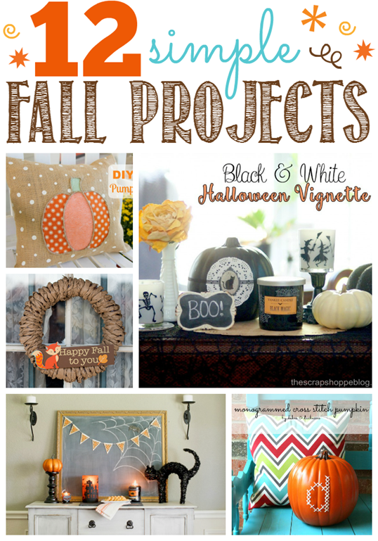 12 Simple Fall Projects at GingerSnapCrafts.com #fall #linkparty #features