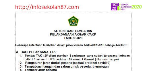 SIMAK! Tata Tertib, Sanksi dan Ketentuan Umum Pelaksanaan AKK dan AKG Madrasah Tahun 2020