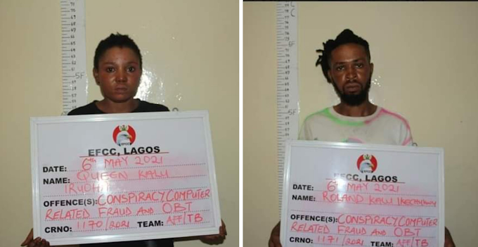 EFCC Arrest Siblings Over Internet Fraud, Love Scam In Lagos