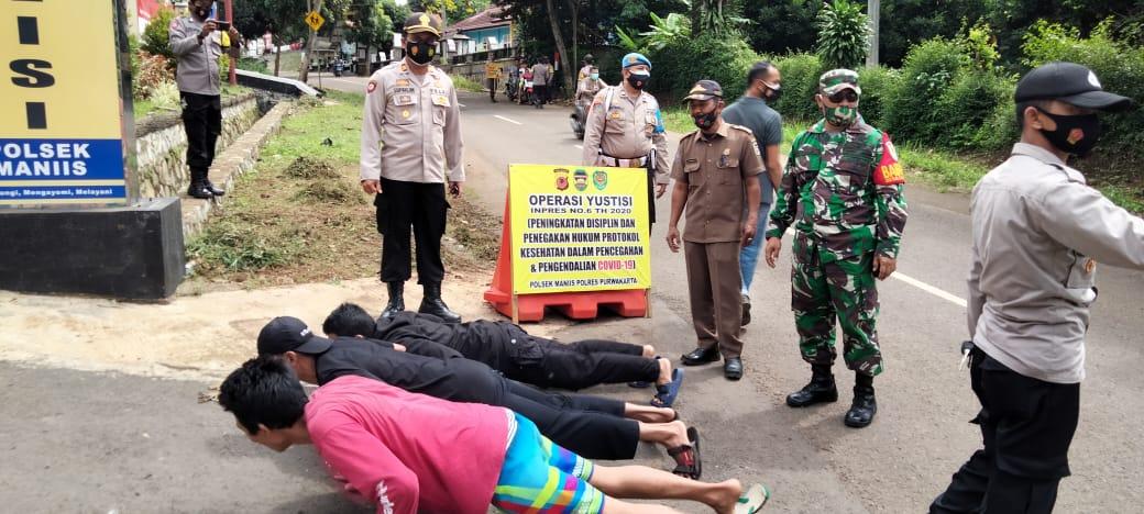 Polsek Maniis bersama Unsur Muspika Terapkan PPKM di Wilayah Hukumnya
