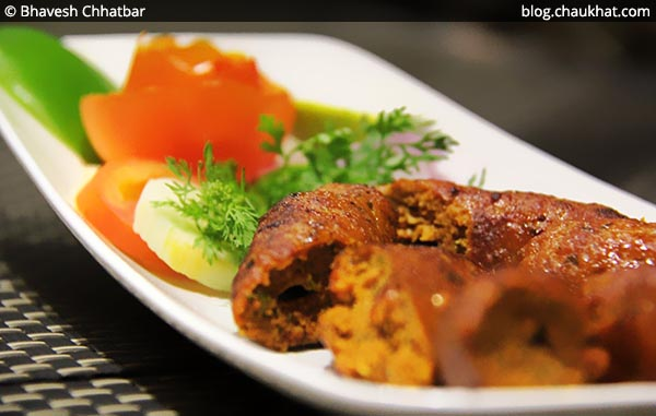 Close-up of Kundan Mutton Seekh Kebabs at SocialClinic Restobar in Koregaon Park area of Pune