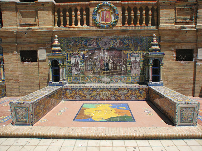 Alcove dedicated to Burgos in Plaza de España, Seville, Spain