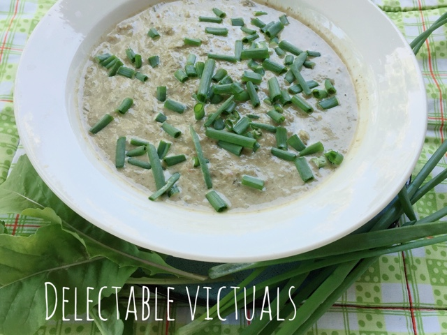 cream of arugula soup