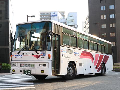 日田バス 高速用車両 412