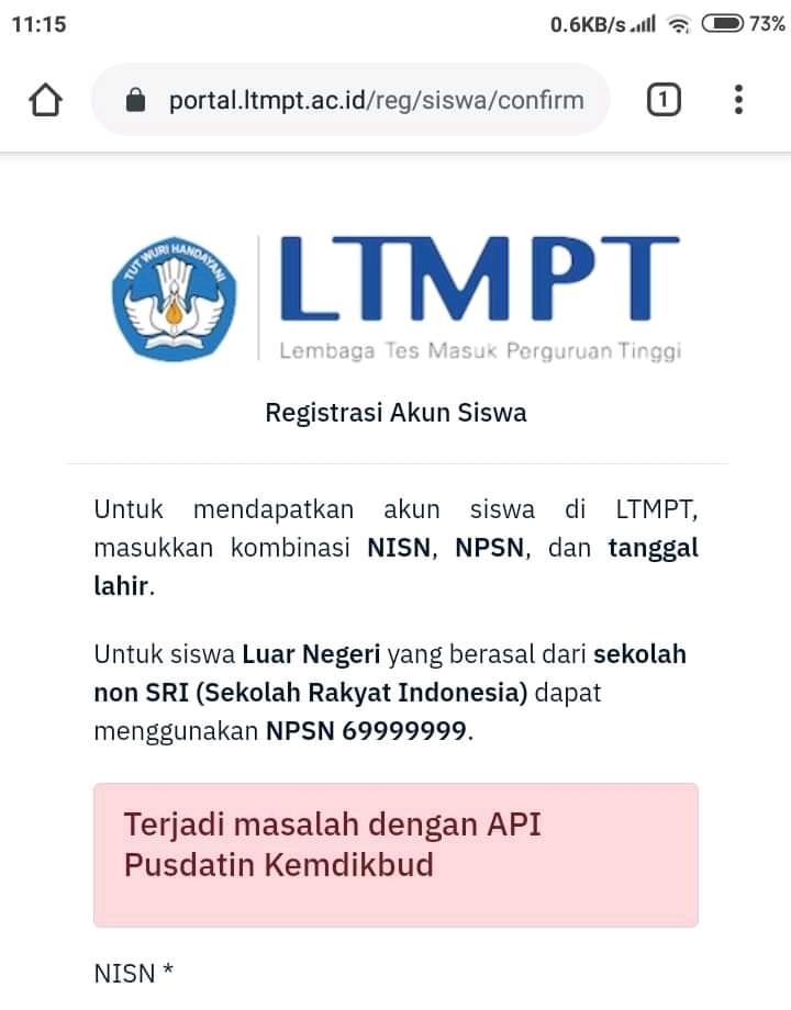 Solusi Permasalahan Tidak Bisa Daftar Login Pada Akun Ltmpt Pengetahuan Umum