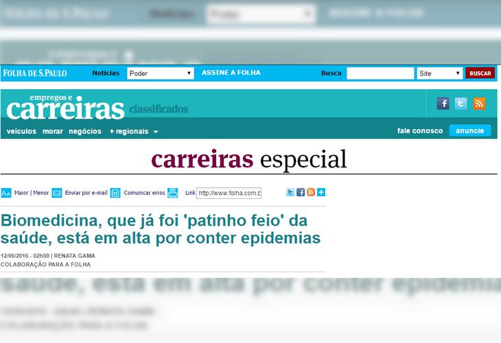 Biomedicina Folha de São Paulo