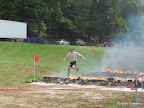 Mike jumping over the fire!