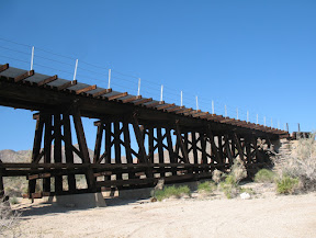 Small trestle in the Mortero Wash area.