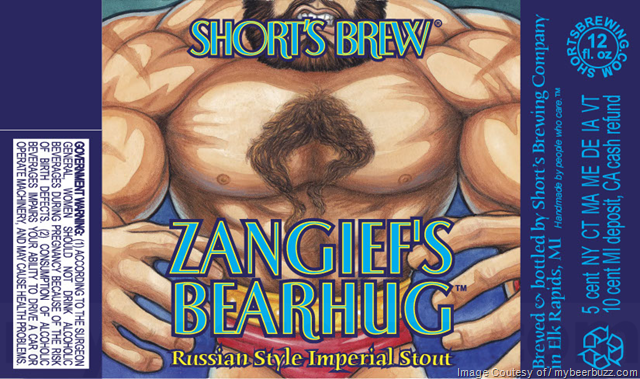 Short's Brewing Zangief's Bearhug Russian-STyle Imperial Stout