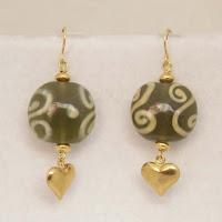 "Love's Symbol - Enamel & hearts 1 1/2""  $12"