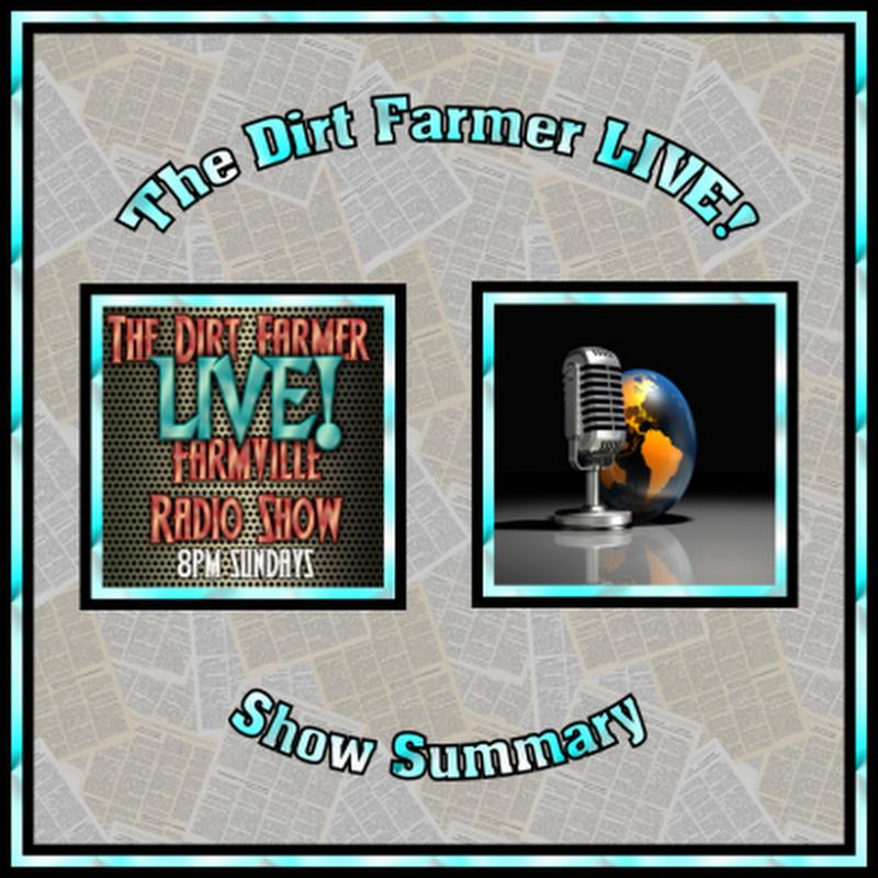 Dirt Farmer LIVE! Show Summary January 8th, 2017