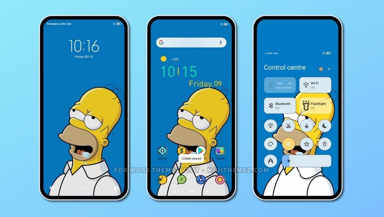 Homer mod v12 MIUI Theme