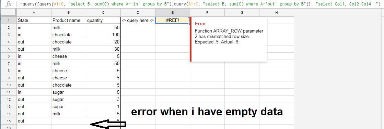 How to fix, Error: Function ARRAY_ROW parameter 2? - עורכי