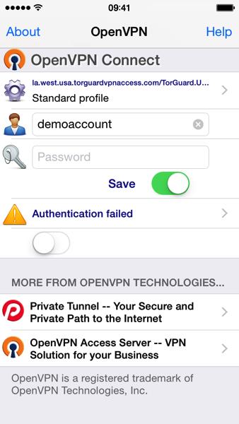 IOS  OpenVPN app