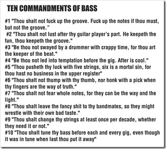 bass_commandments