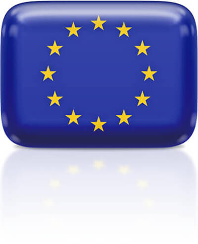 European flag clipart rectangular