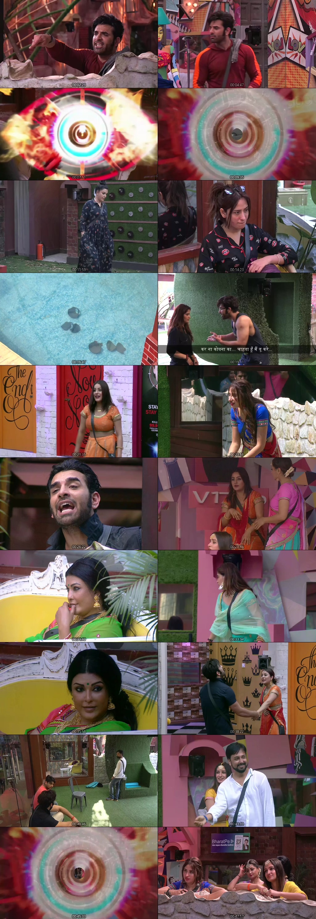 Screenshots Of Hindi Show Bigg Boss 13 9th October 2019 Episode 10 300MB 480P HD