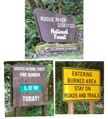 Signs for National Forest
