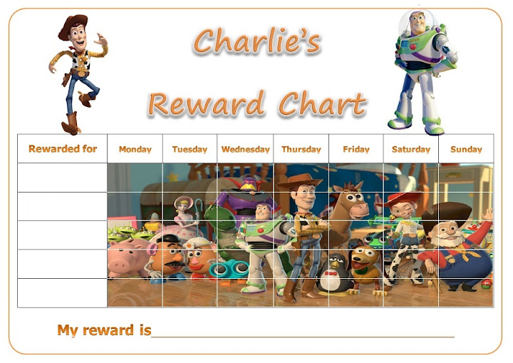 Toy Story Potty Training Chart : Personalised toy story woody buzz lightyear reward