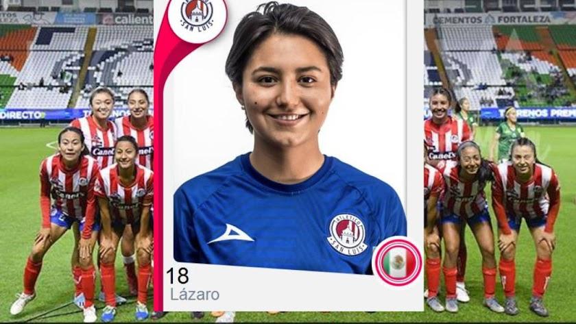 La jugadora del Atlético San Luis Daniela Lázaro.