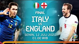 Final Piala Eropa 2020 Italia Vs Inggris, Timnas Mana Bakal Keluar Sebagai Juara ?