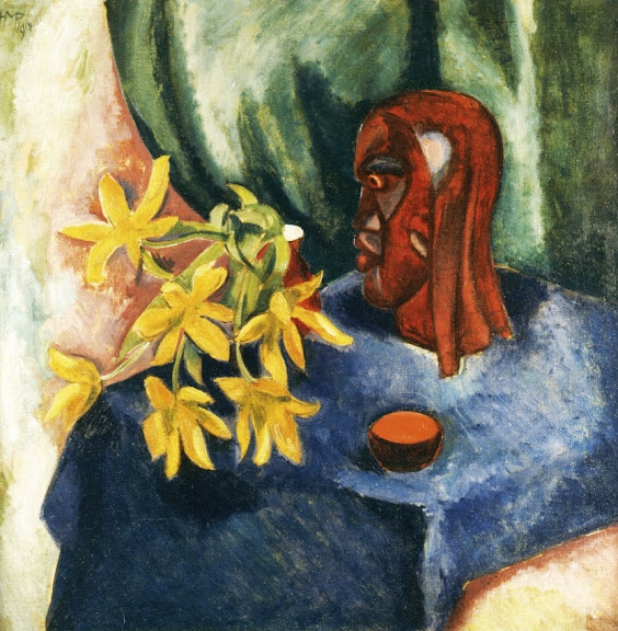 Max Pechstein - Still Life with Tulips and Sculpture