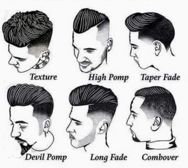 Nombres de cortes de pelo para hombre