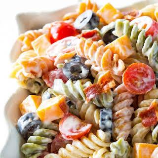 Bacon Ranch Pasta Salad.