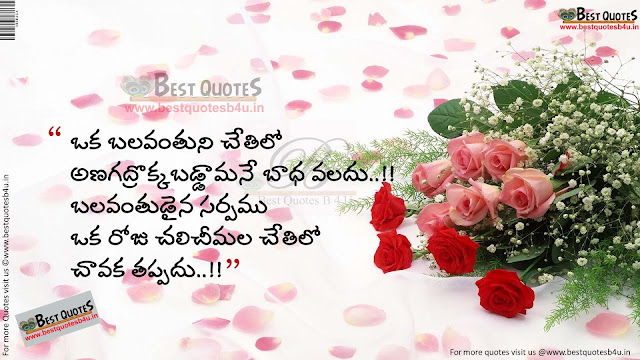 Best Inspirational quotes in telugu 121