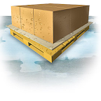 Marvatex Polyethylene Coated Paperboard creates a water/moisture barrier between your product and the pallet.
