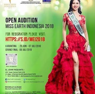 cara mendaftar di audisi miss earth indonesia 2018