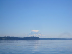 Photo: Mount Rainier always inspires. Famous lenticular cloud often hangs over the peak.
