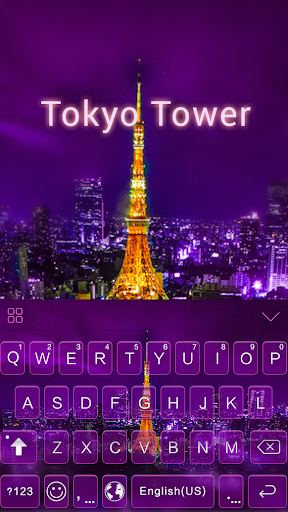 Tokyo Tower theme for keyboard