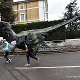 OIC - ENTSIMAGES.COM - Dinosaur at the  Virgin Money London Marathon on Blackheath in London, England. 24th April 2016 Photo Mobis Photos/OIC 0203 174 1069